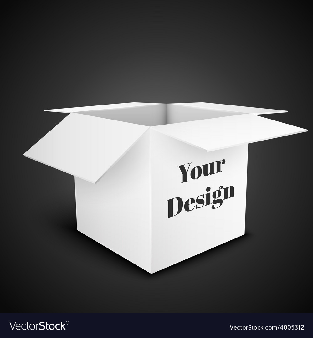 White package box isolated on black vector   Price: 1 Credit (USD $1)