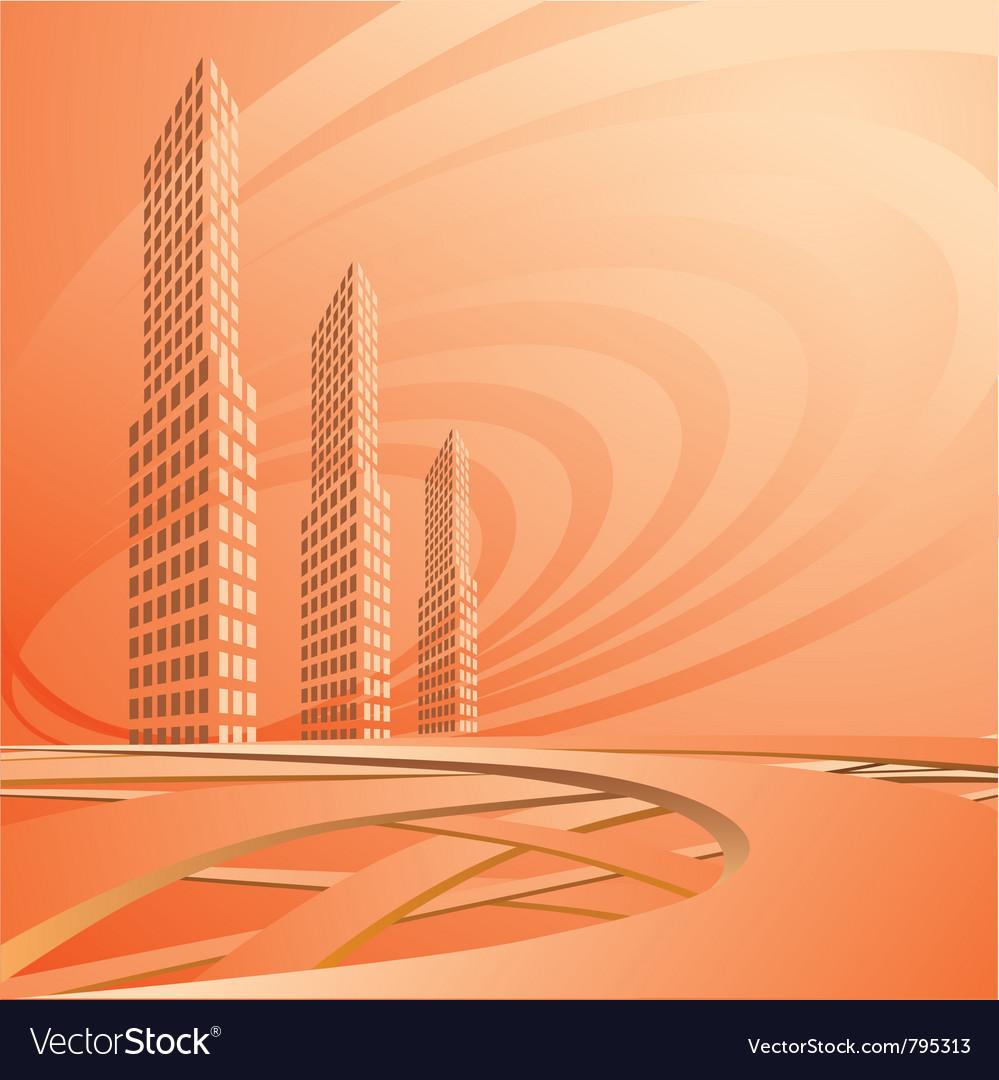 City landscape is in light tones vector | Price: 1 Credit (USD $1)