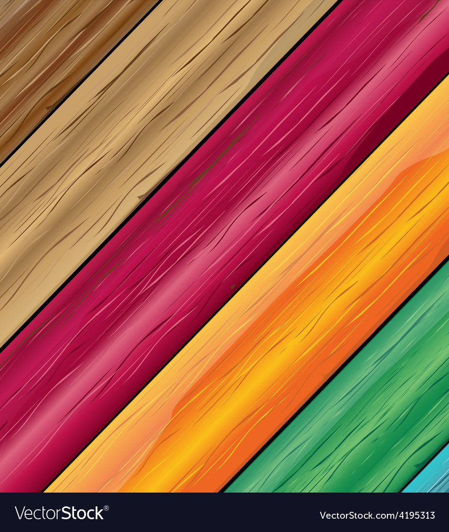 Colorful wooden vector | Price: 1 Credit (USD $1)