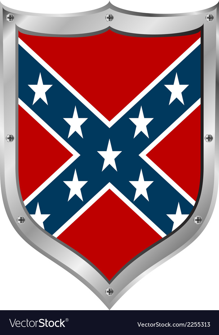 Confederate flag icon vector | Price: 1 Credit (USD $1)
