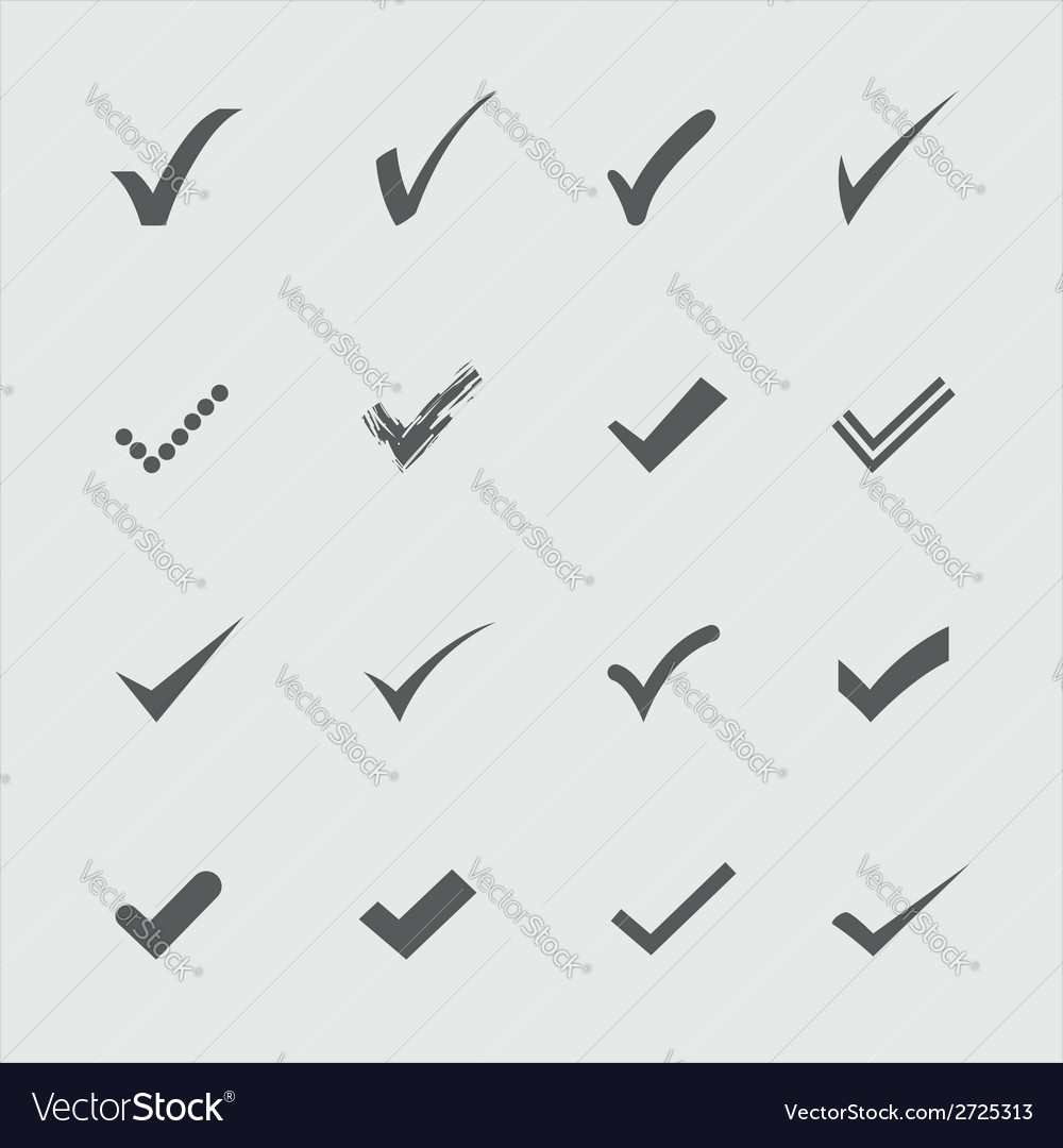 Confirm icons vector | Price: 1 Credit (USD $1)