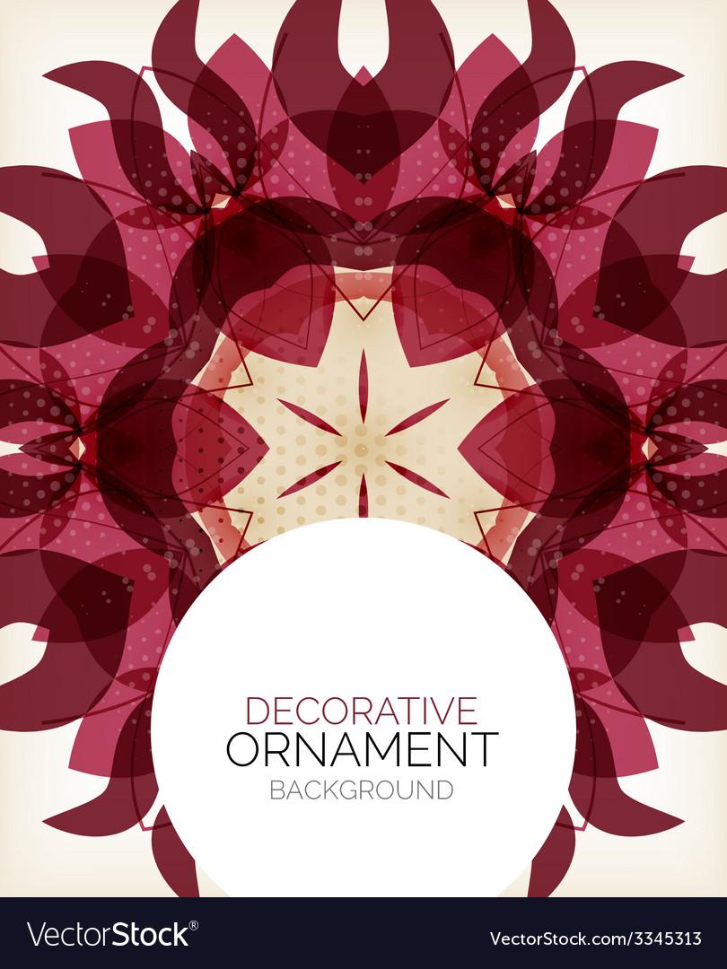 Decorative retro ornaments background vector | Price: 1 Credit (USD $1)