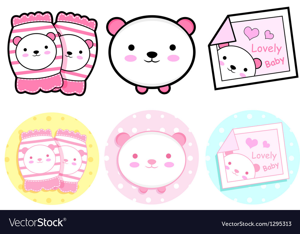 Diverse styles of knee pads and pillow sets vector | Price: 1 Credit (USD $1)
