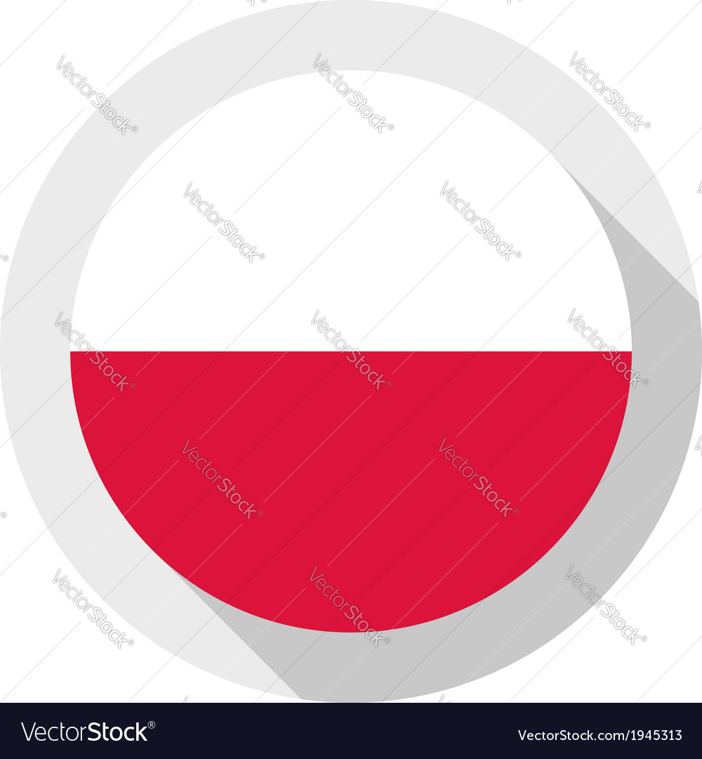 Flag of poland vector | Price: 1 Credit (USD $1)