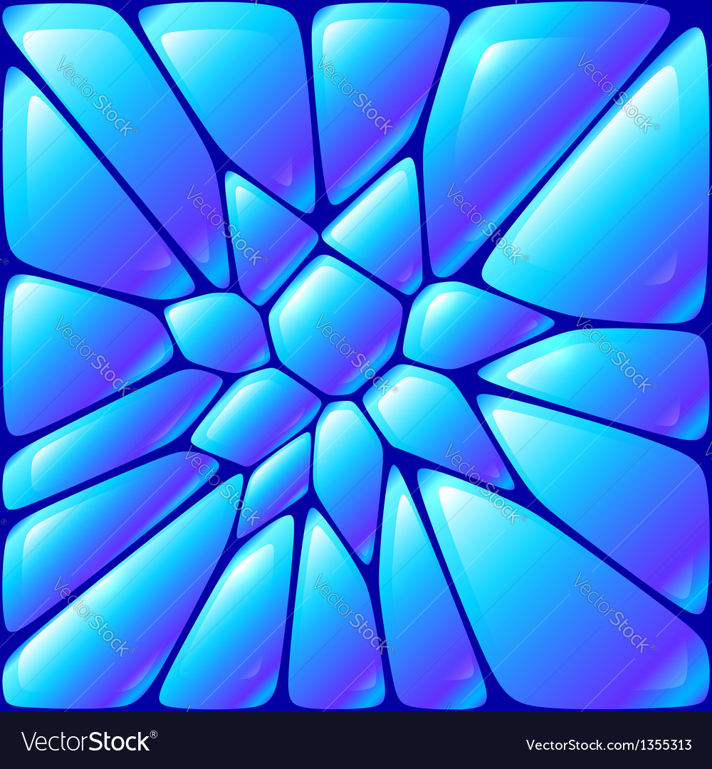 Glossy blue wet bricks vector | Price: 1 Credit (USD $1)
