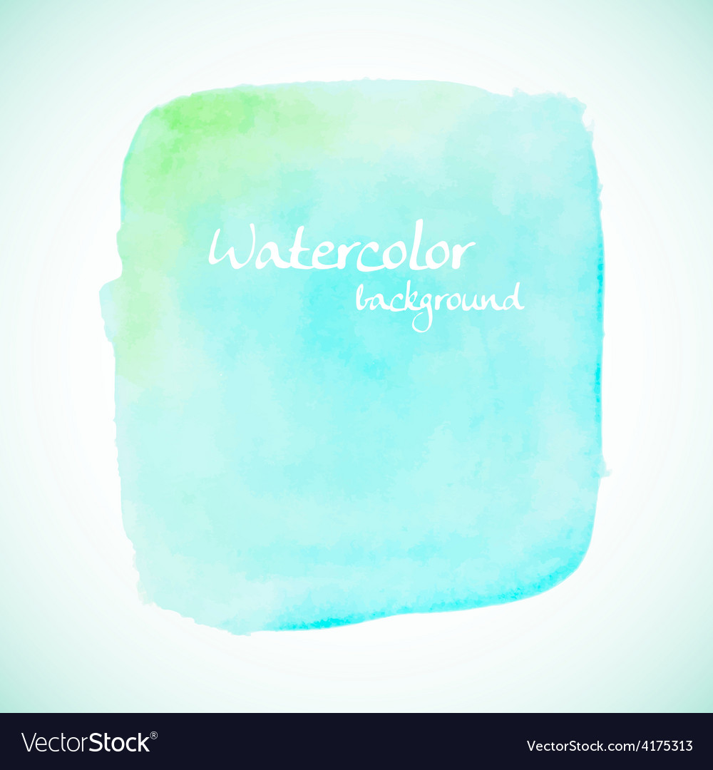 Green watercolor element for summer designs vector | Price: 1 Credit (USD $1)