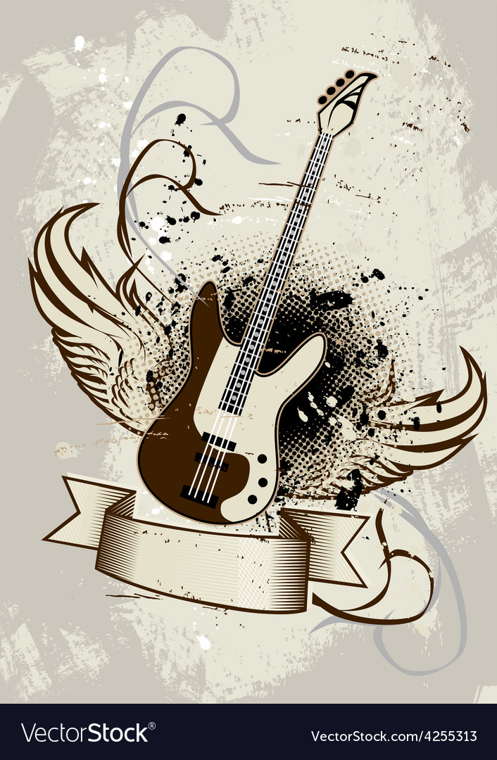 Guitar wings vector
