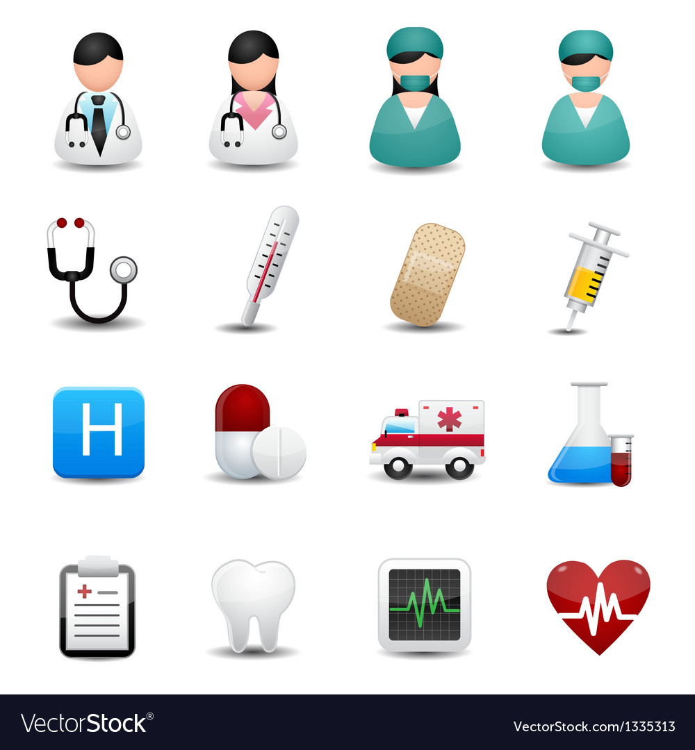 Medical icons symbols vector | Price: 3 Credit (USD $3)