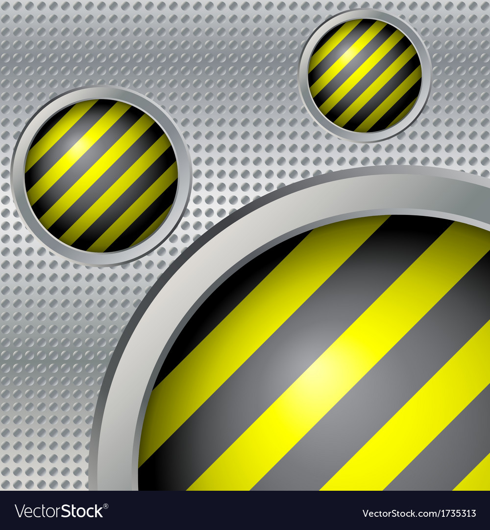 Metal background round buttons vector | Price: 1 Credit (USD $1)