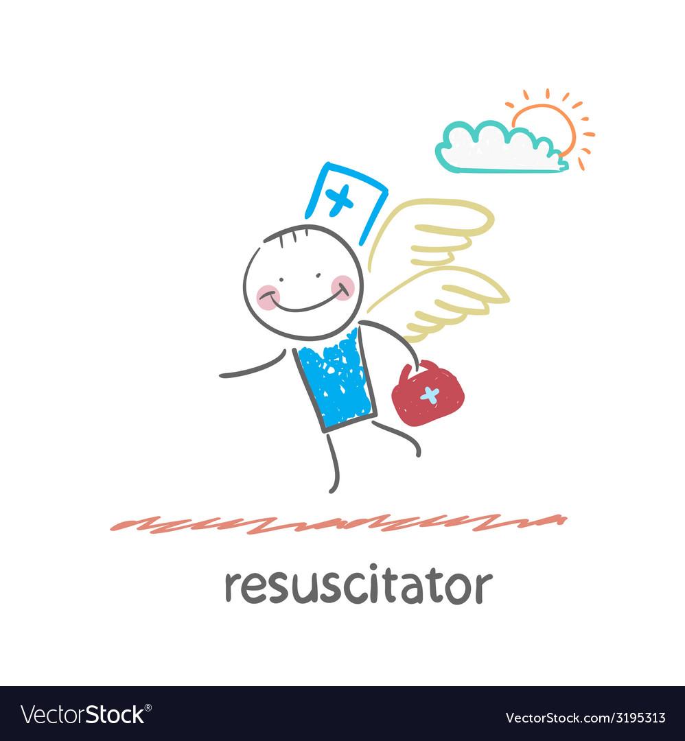 Resuscitator flies to the patient vector | Price: 1 Credit (USD $1)