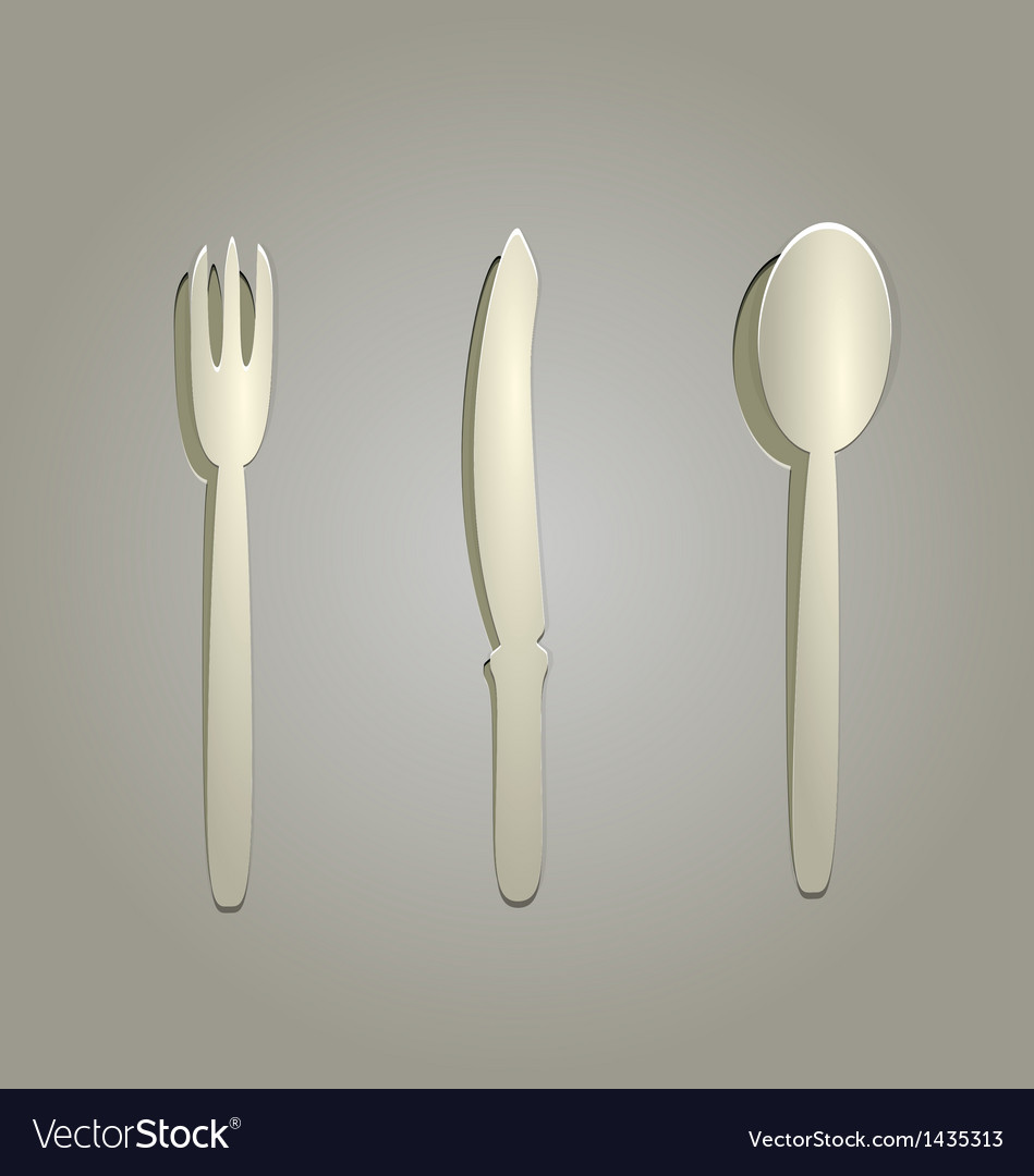 Silverware cut from paper vector | Price: 1 Credit (USD $1)