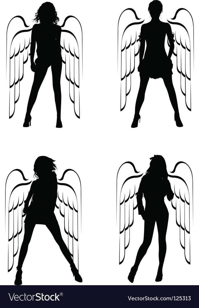 Winged girls vector | Price: 1 Credit (USD $1)