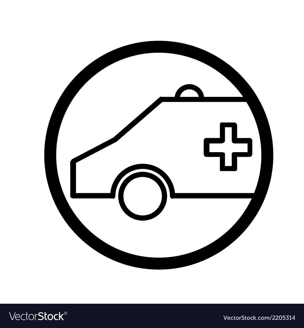 Ambulance symbol vector | Price: 1 Credit (USD $1)