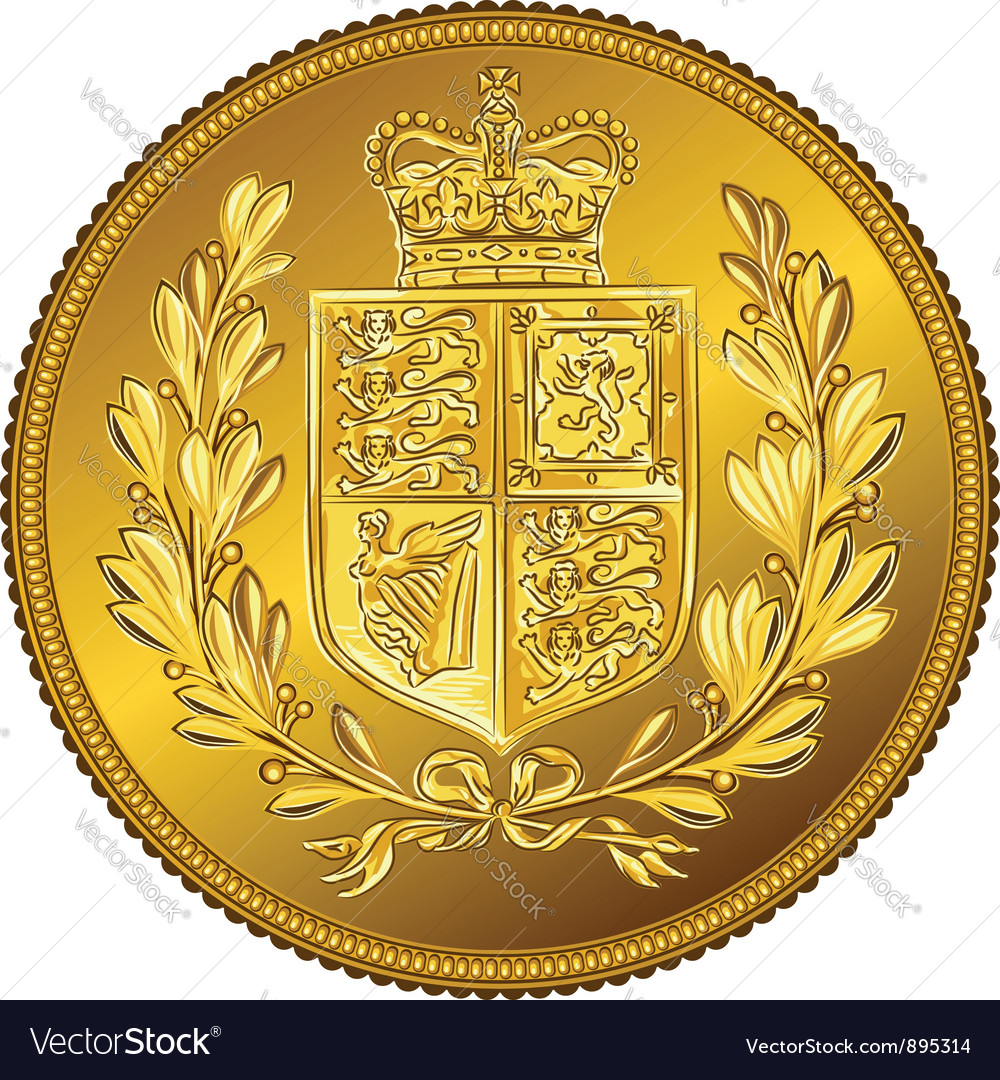 British money gold coin sovereign with the vector | Price: 1 Credit (USD $1)