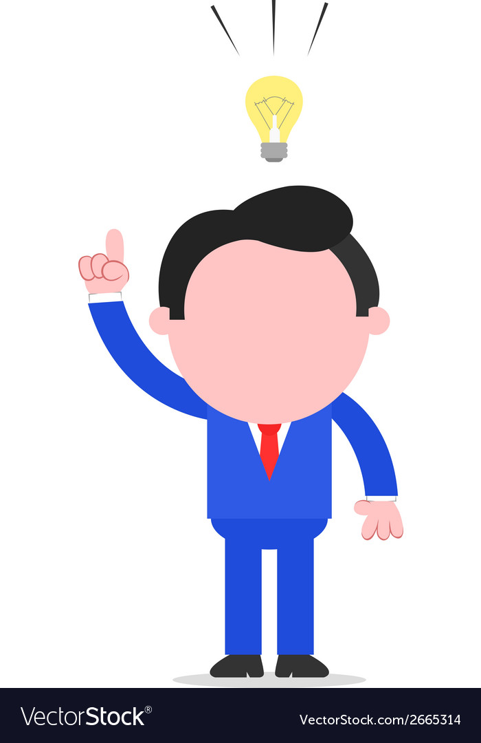 Businessman with idea vector | Price: 1 Credit (USD $1)