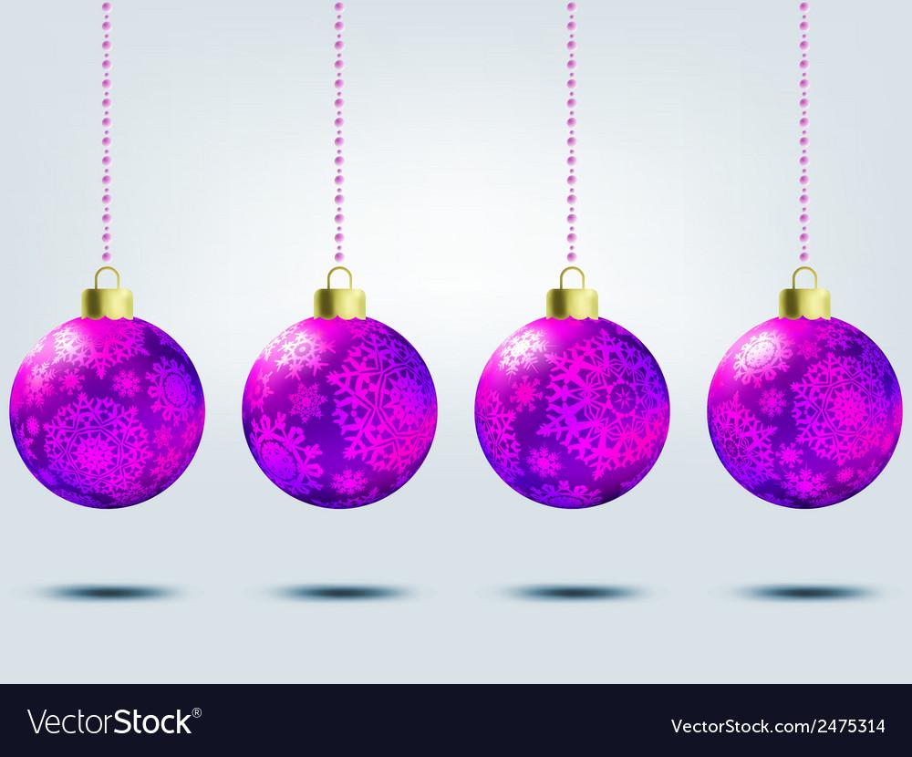 Christmas balls over elegant background eps 8 vector | Price: 1 Credit (USD $1)
