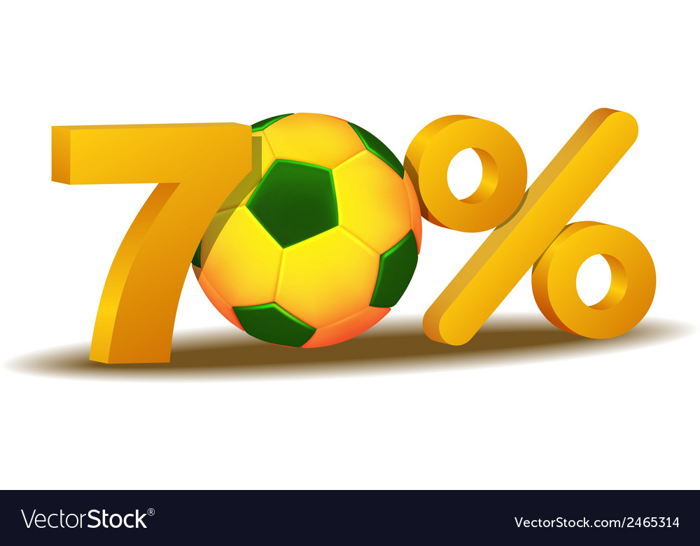 Seventy percent discount icon vector | Price: 1 Credit (USD $1)
