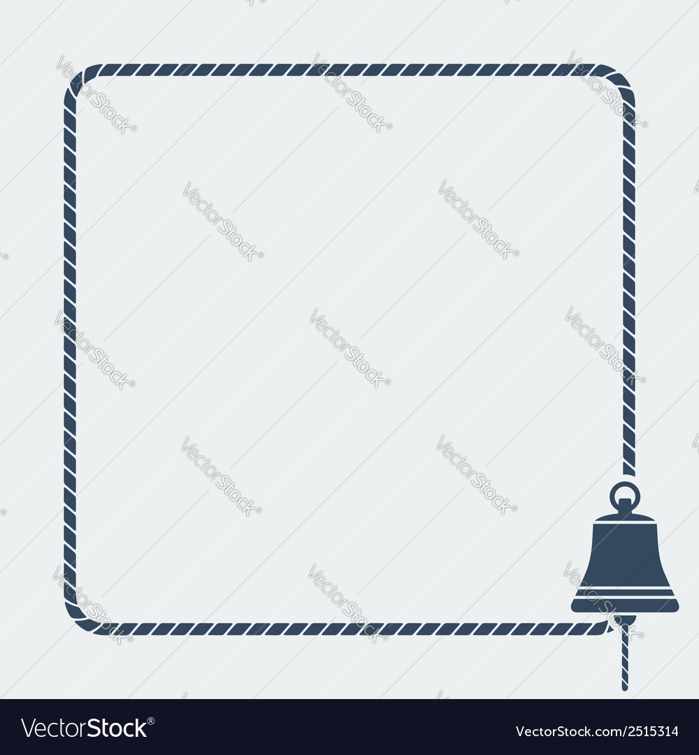 Ship bell marine background vector | Price: 1 Credit (USD $1)