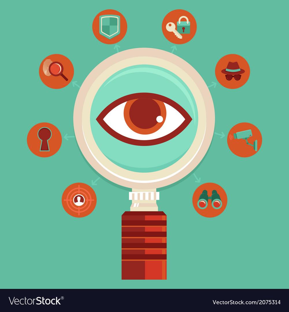 Surveillance concept vector   Price: 1 Credit (USD $1)