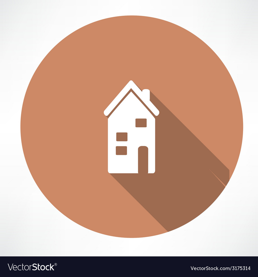 Two-storey house icon vector | Price: 1 Credit (USD $1)
