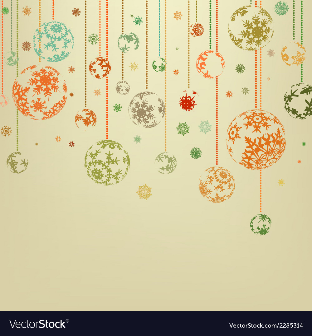 Vintage merry christmas and happy new year eps 8 vector | Price: 1 Credit (USD $1)