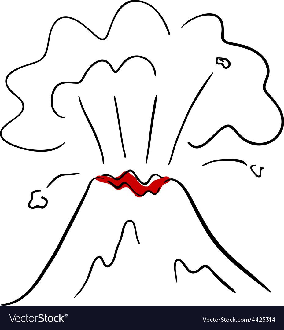 Volcano vector | Price: 1 Credit (USD $1)
