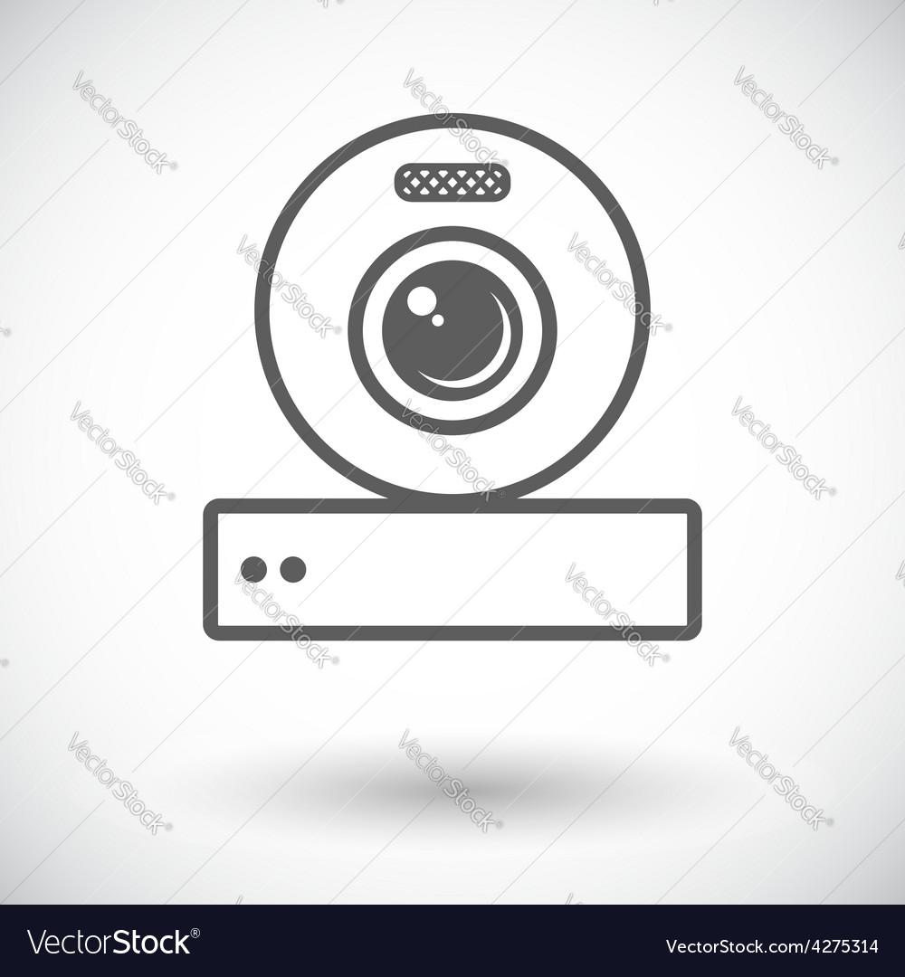 Web cam icon vector | Price: 1 Credit (USD $1)