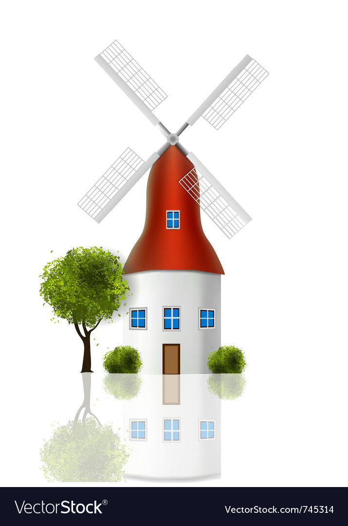 Windmill vector | Price: 3 Credit (USD $3)