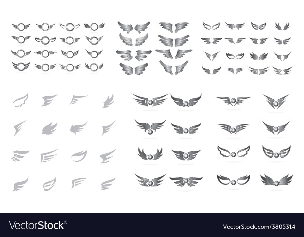 Wing art collection vector | Price: 1 Credit (USD $1)
