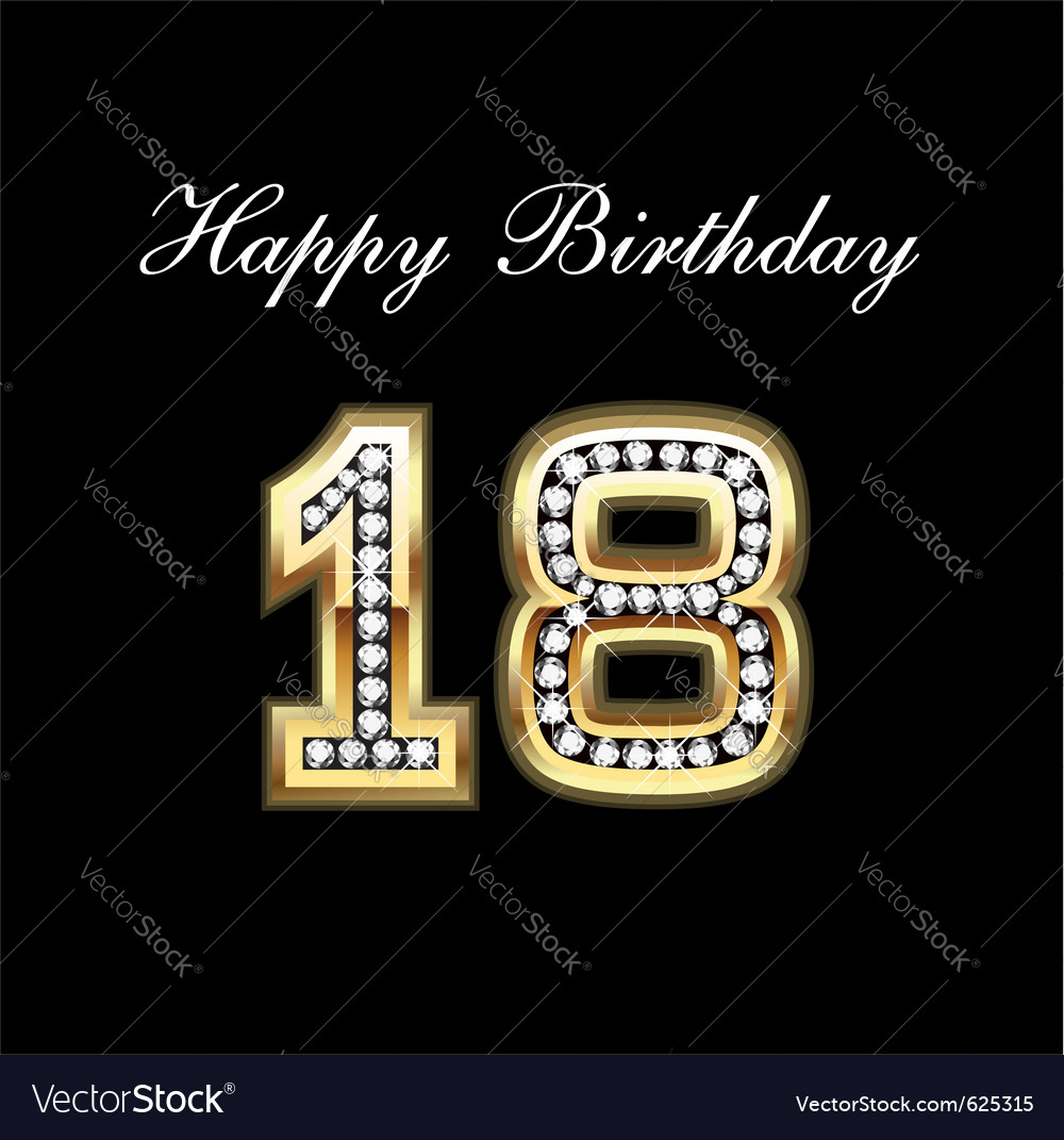 18 birthday vector | Price: 1 Credit (USD $1)