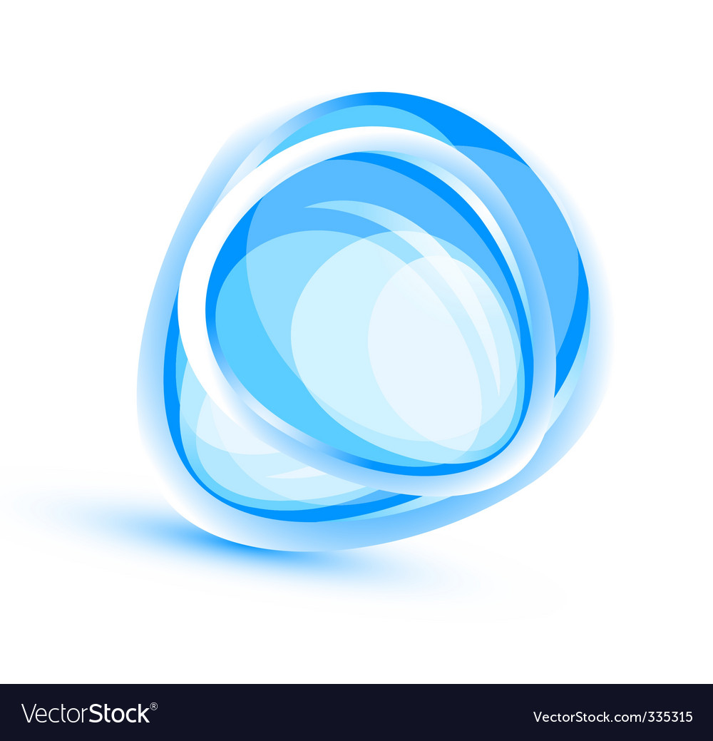 Aqua element background vector | Price: 1 Credit (USD $1)