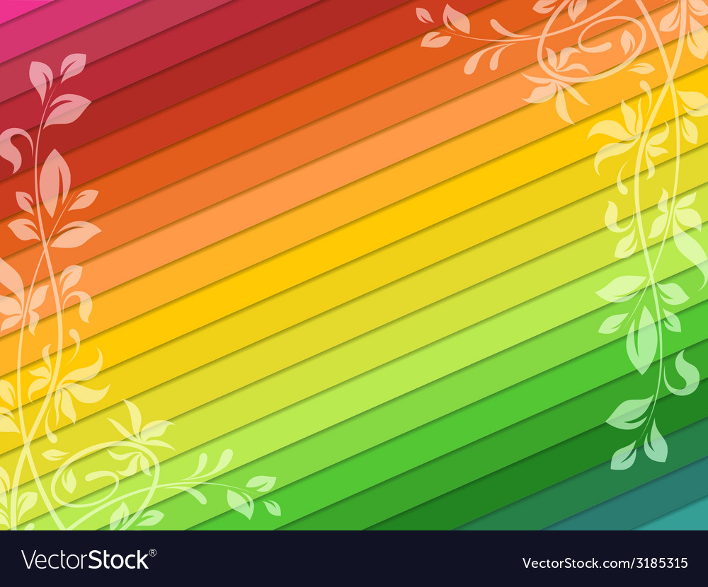 Background with floral decorations vector | Price: 1 Credit (USD $1)