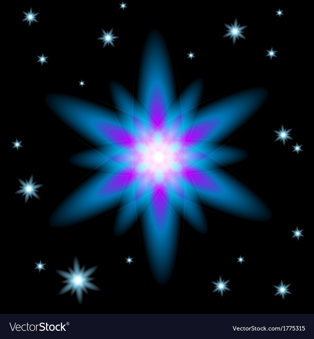 Bright glowing christmas star vector | Price: 1 Credit (USD $1)