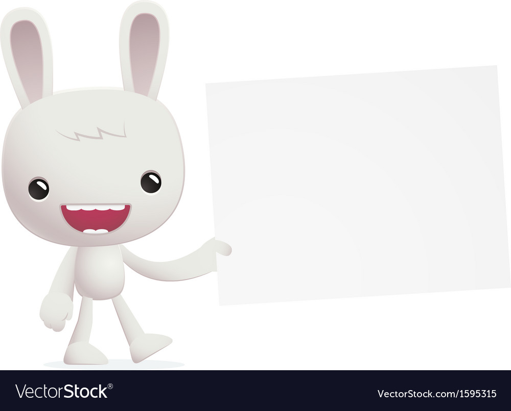 Bunny in various poses vector | Price: 1 Credit (USD $1)