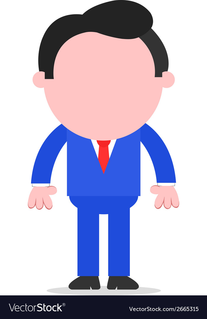 Businessman standing vector | Price: 1 Credit (USD $1)