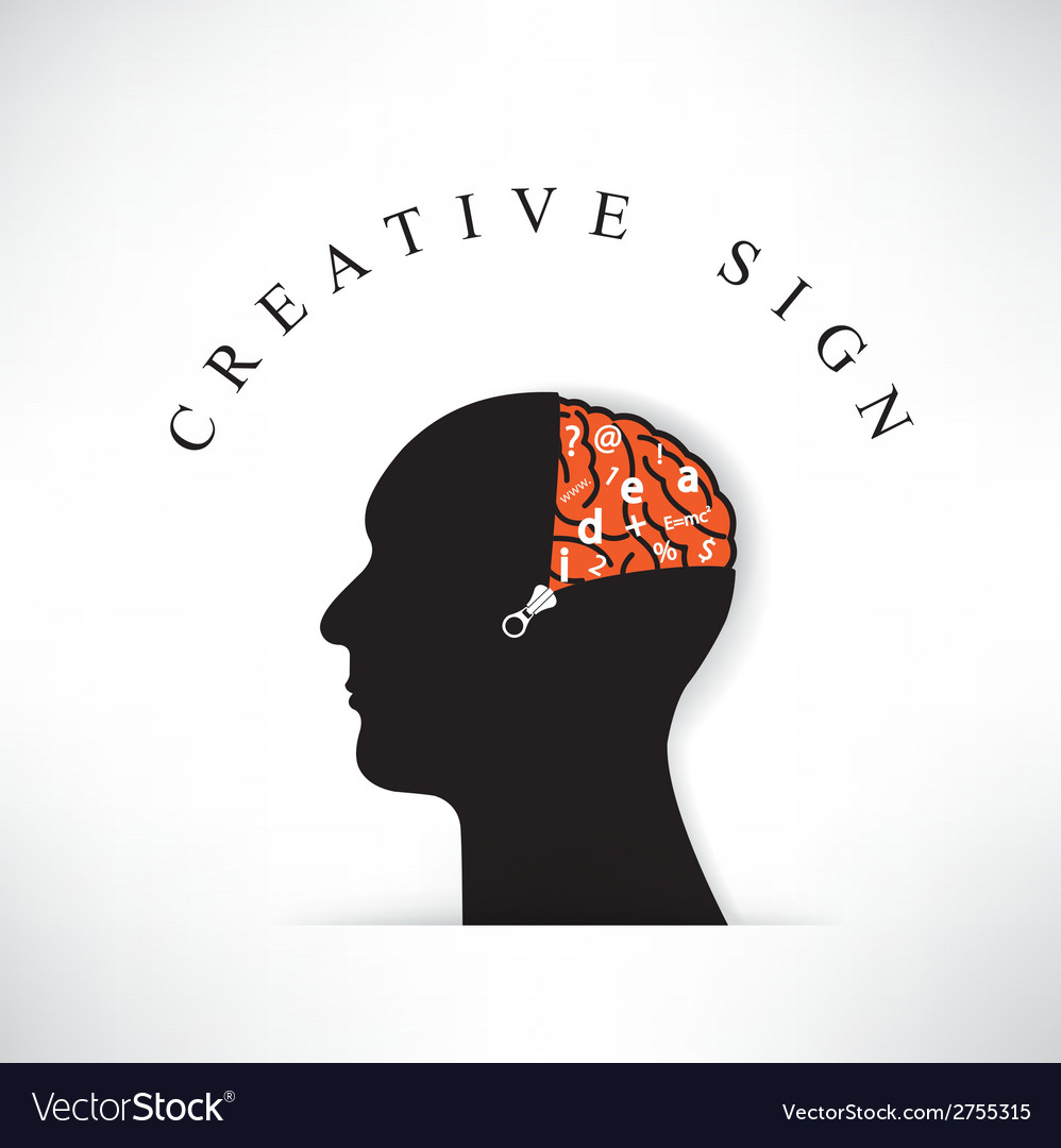 Creative silhouette head with opening the brain by vector | Price: 1 Credit (USD $1)