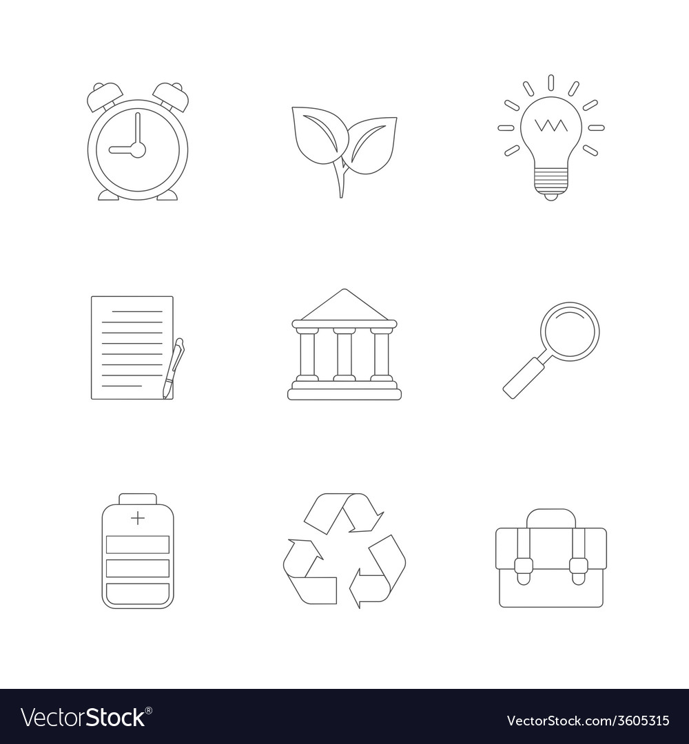 Flat line icons set vector | Price: 1 Credit (USD $1)