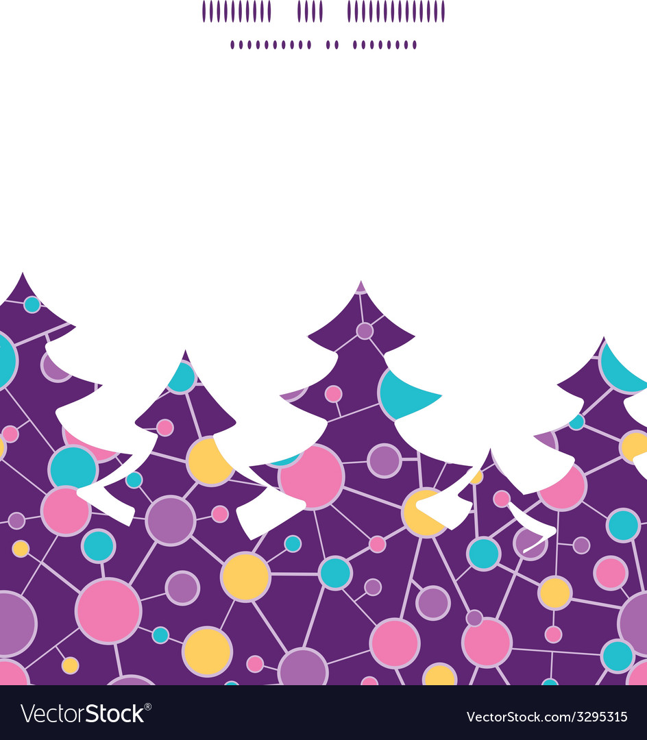 Molecular structure christmas tree silhouette vector | Price: 1 Credit (USD $1)