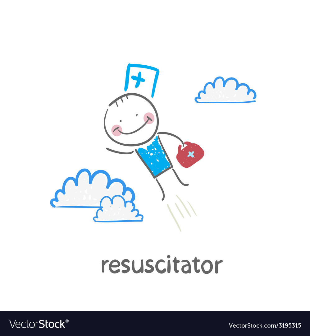 Resuscitator flies to the patient vector | Price: 1 Credit (USD $1)