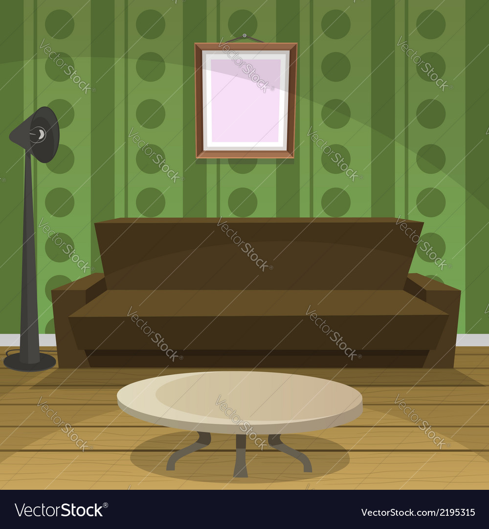 Retro room vector | Price: 1 Credit (USD $1)