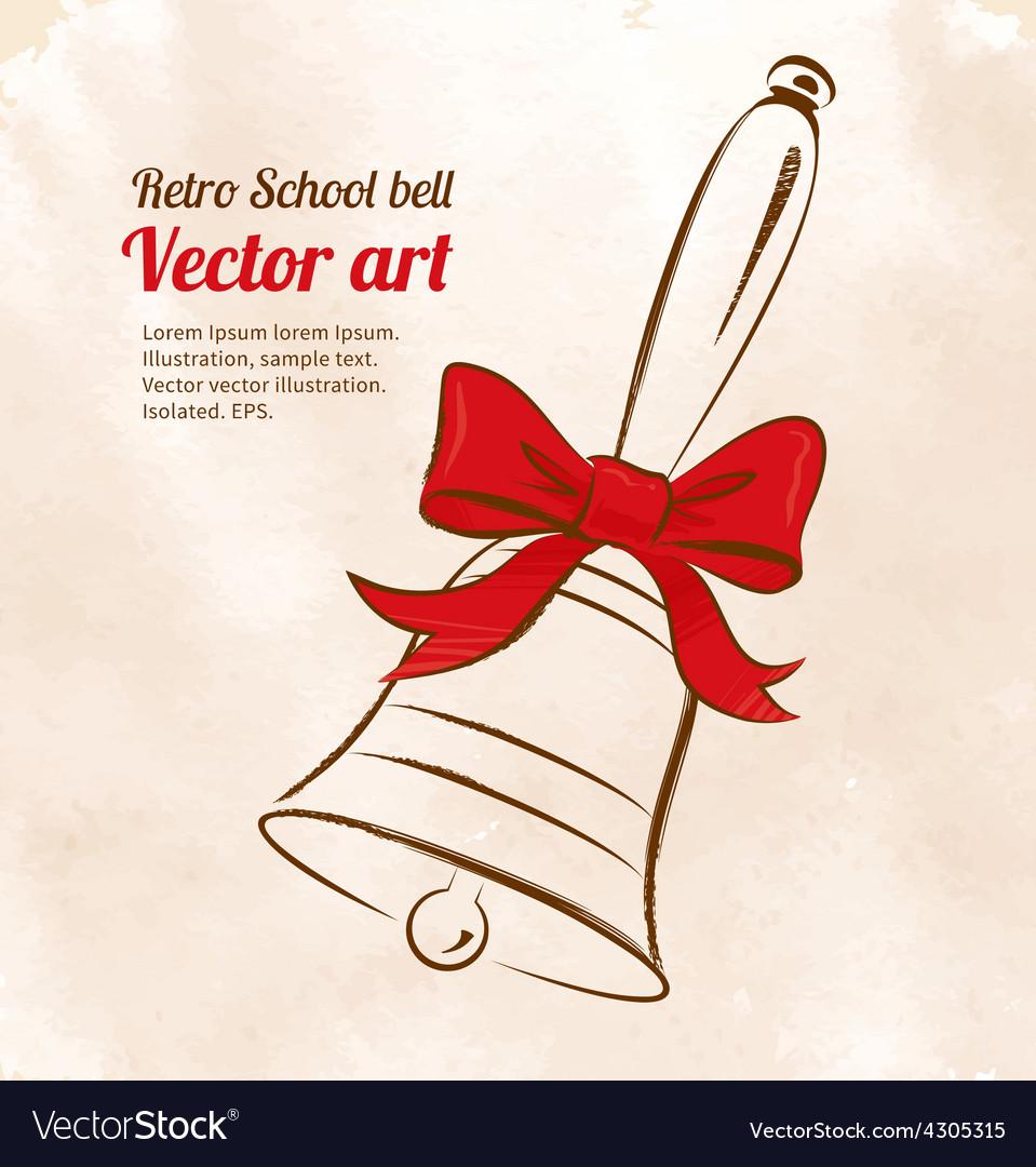 School bell vector | Price: 1 Credit (USD $1)