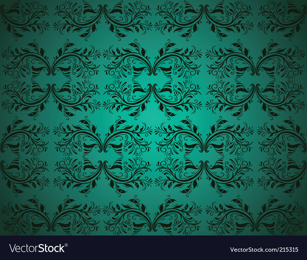 Seamlessly damask wallpaper vector | Price: 3 Credit (USD $3)