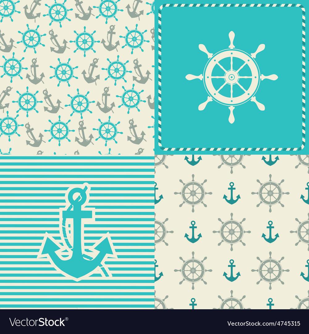 Set sea seamless vector   Price: 1 Credit (USD $1)
