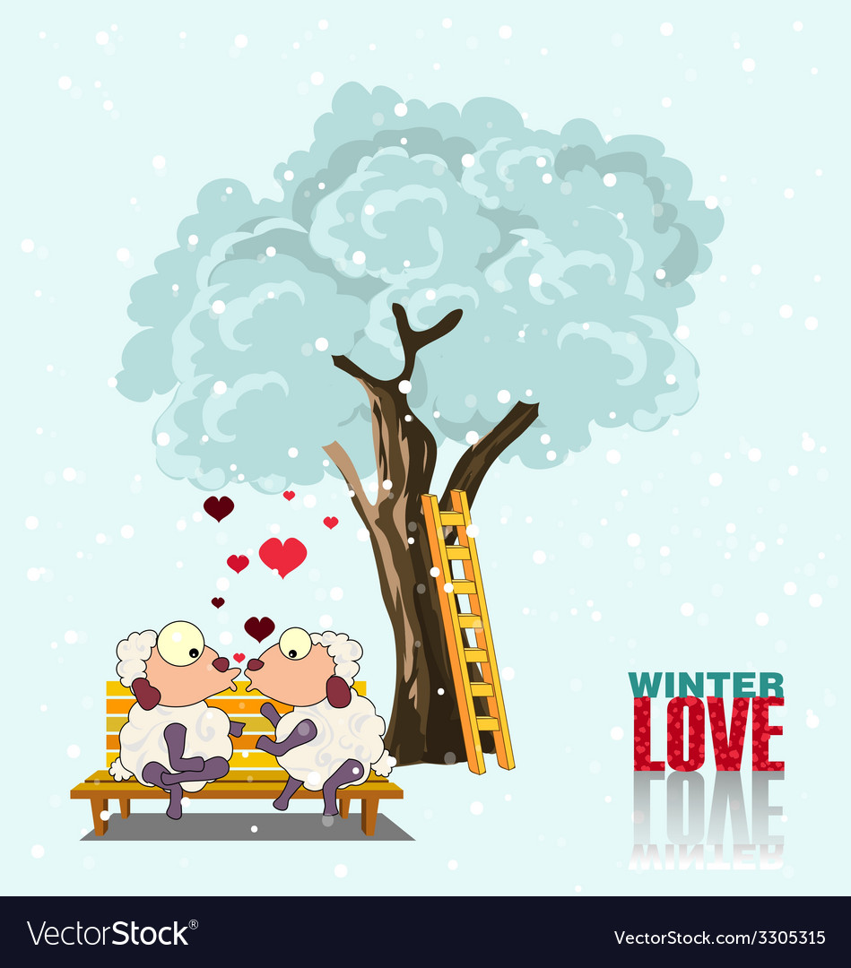 Winter love vector | Price: 1 Credit (USD $1)