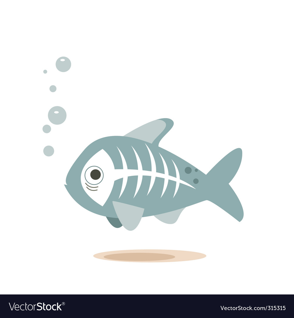 X-ray fish vector | Price: 1 Credit (USD $1)
