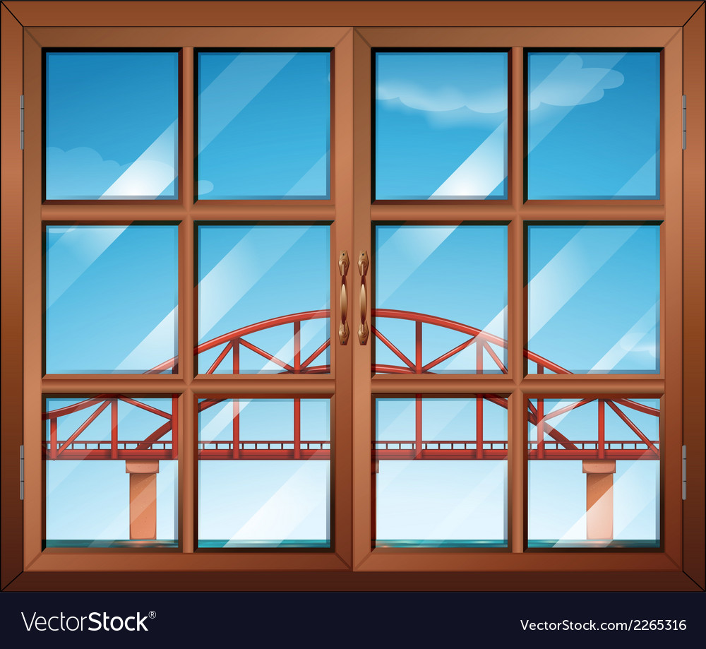 A window across the bridge vector | Price: 1 Credit (USD $1)