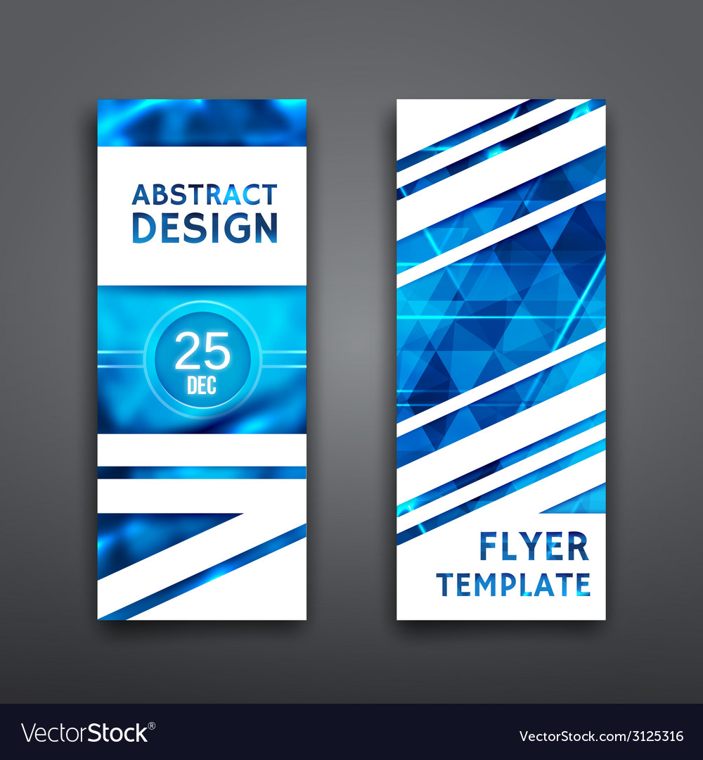 Abstract geometric brochure template flyer layout vector | Price: 1 Credit (USD $1)