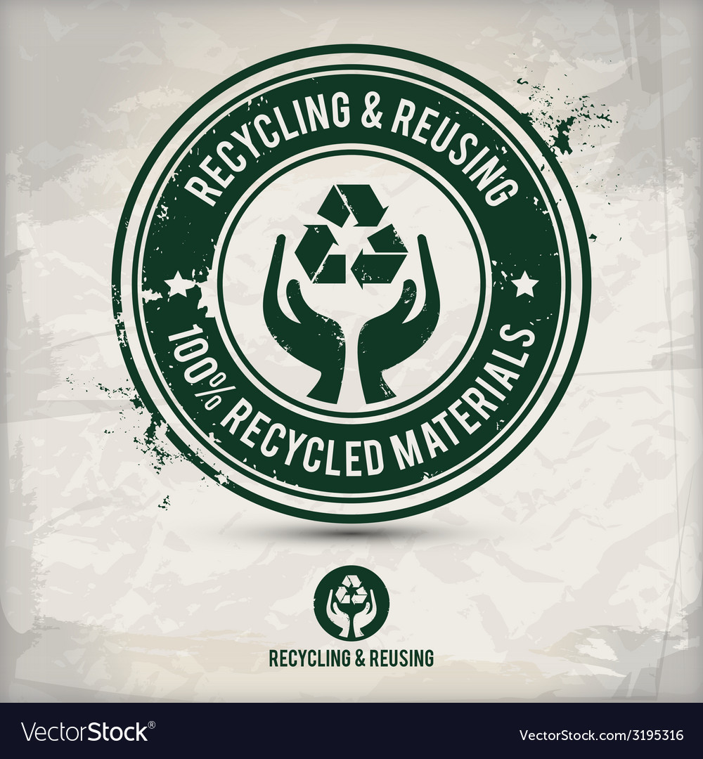Alternative recycling and reusing stamp vector | Price: 1 Credit (USD $1)