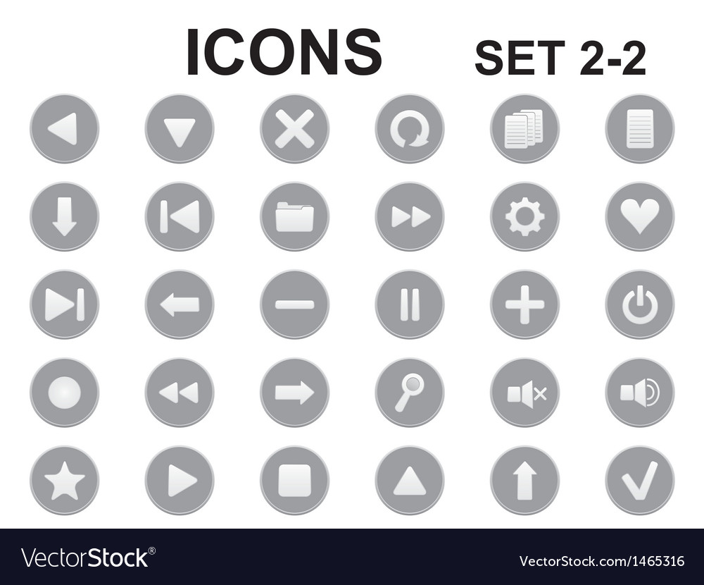 Black and white round icons vector | Price: 1 Credit (USD $1)