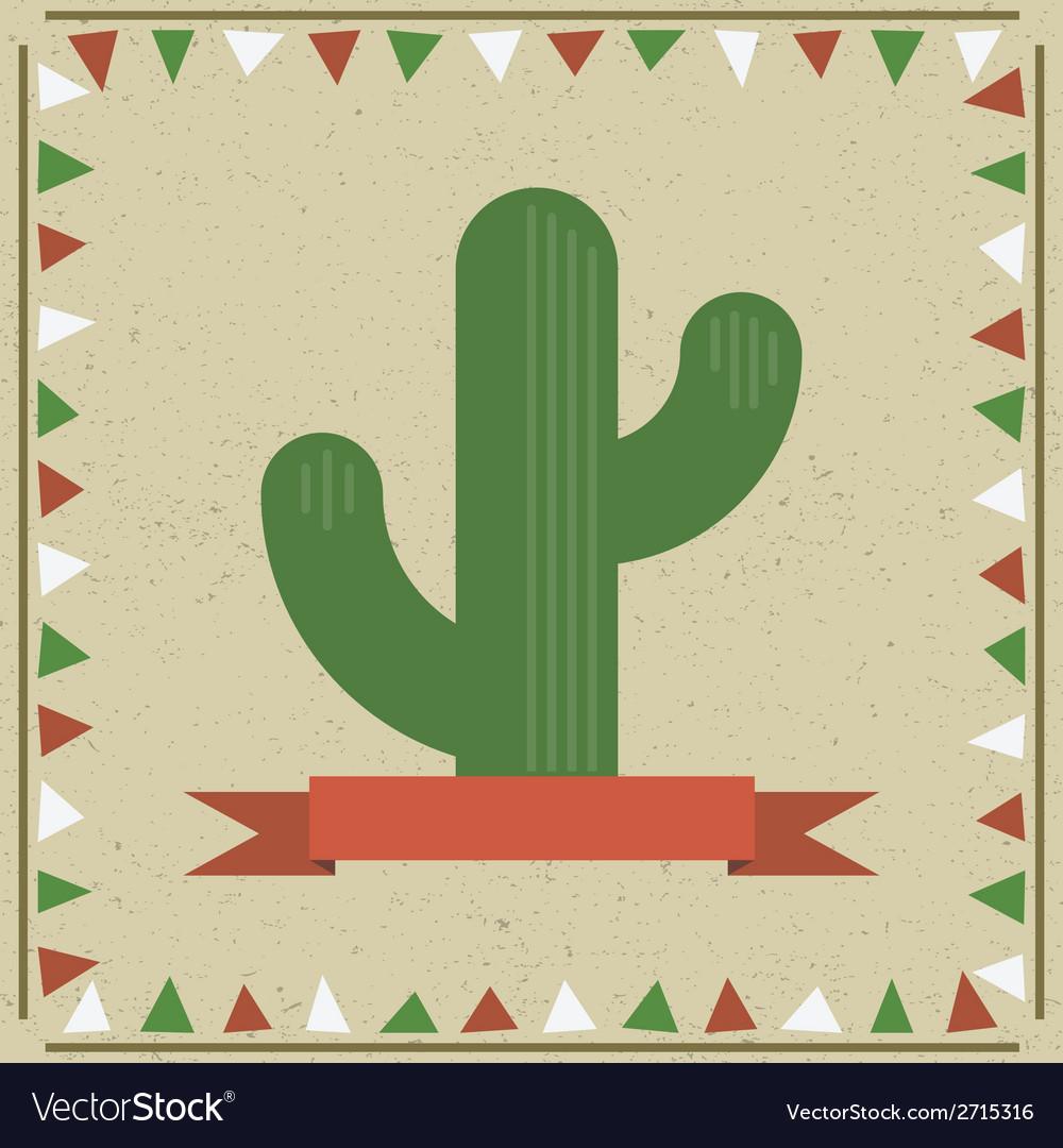 Cactus decoration vector | Price: 1 Credit (USD $1)